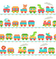 kids toy train pattern children railroad toys vector image vector image