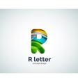 Letter R logo vector image vector image