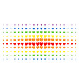 love heart spectral halftone array vector image