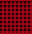 lumberjack plaid seamless pattern in red black vector image