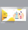 medicine profession website landing page doctor vector image