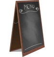 Menu Black Board Isolated vector image vector image