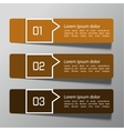 Modern design template from paper and pointers vector image vector image
