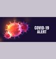 novel coronavirus covid-19 pandemic alert banner vector image vector image