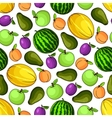 Organic fresh fruits seamless pattern vector image vector image