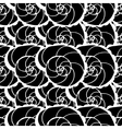 pattern with shells vector image vector image