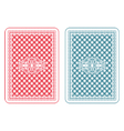 Playing cards back zeta vector image vector image