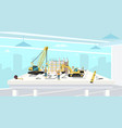 project in architect office of construction house vector image vector image