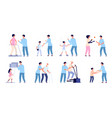 rehabilitation and therapy health exercising vector image vector image