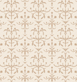 Seamless beige flowers texture vector image