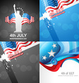 set of 4th july american independence day vector image vector image