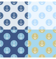 set of seamless pattern with anchor ship steering vector image vector image