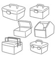 set of toolbox vector image vector image