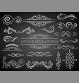 set vintage decorations elementsflourishes vector image vector image