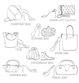set women bags ans shoes vector image