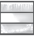 Silver christmas banners vector | Price: 1 Credit (USD $1)