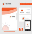 siren business logo file cover visiting card and vector image vector image