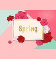 spring background with colorful roses vector image vector image