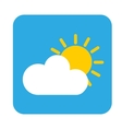 sun cloud icon vector image vector image
