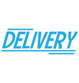 text delivery banner on white background vector image