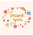 Thank you Bright and stylish text on a strip vector image