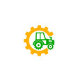 tractor logo design vector image