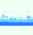 tropical beach nature concept vector image vector image