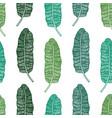 tropical palm leaves banana tree seamless pattern vector image vector image