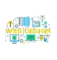 Web Design Work Process vector image