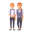 Wedding gay couples characters vector image vector image