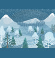 winter landscape background nature vector image