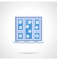 Winter window flat color icon vector image vector image