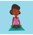 Woman meditating in yoga lotus pose vector image vector image