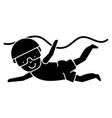 swimming boy icon sign o vector image