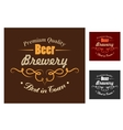 Brewery emblem or logo in retro style vector image