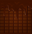 horizontal seamless chocolate pattern with vector image