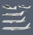 airplanes in cartoon style vector image