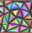 abstract 3d geometric polygonal triangle pattern vector image vector image