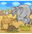 african safari animals cartoon vector image vector image
