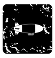 Airship icon grunge style vector image vector image