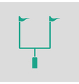 American football goal post icon vector image