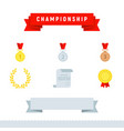 Award icons championship set flat design style