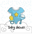 baby shower to welcome a child in the family vector image vector image