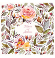 Beautiful Roses Frame vector image vector image