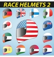 bike helmet and flags vector image vector image