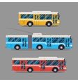 Bus icon flat design city transportation