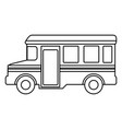 bus school isolated icon vector image vector image