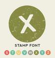 circular stamp font template vector image