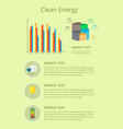 clean energy poster graphic vector image vector image