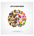 Color creative brain sign vector image vector image